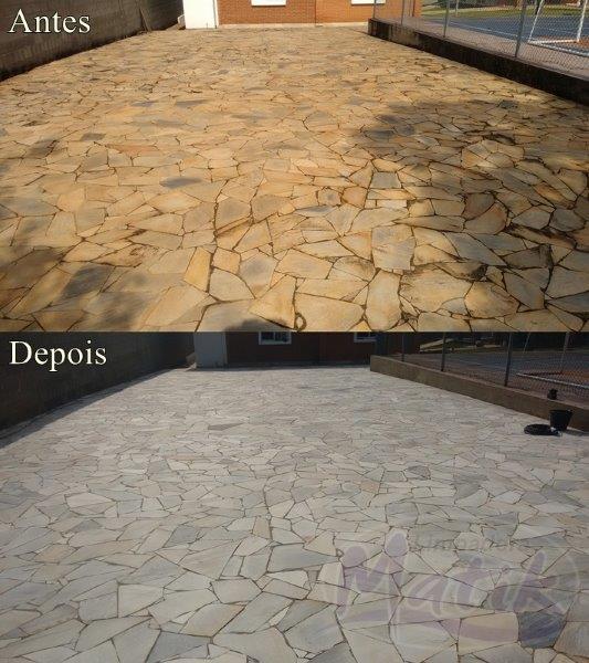 Limpeza e impermeabilização de pedras