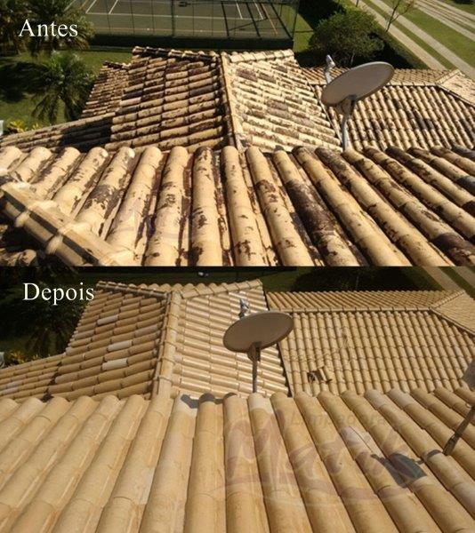 Serviço de limpeza de telhado