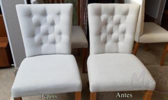 Higienização de cadeiras estofadas
